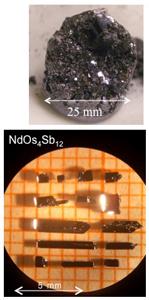 Single X-tals of NdOs4Sb12
